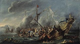 Combate naval entre españoles y turcos