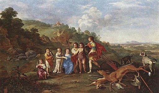 Cornelis van Poelenburch - Children of Frederick V Prince Elector of Pfalz and King of Bohemia - WGA18002