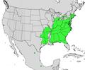 Cornus florida map.png