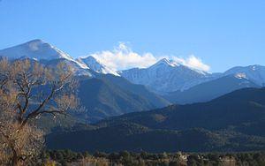 Sangre de Cristo Range - Northern Sangre de Cristo Range seen from Coaldale, Colorado.