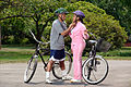 Couple preparing for bike ride.jpg