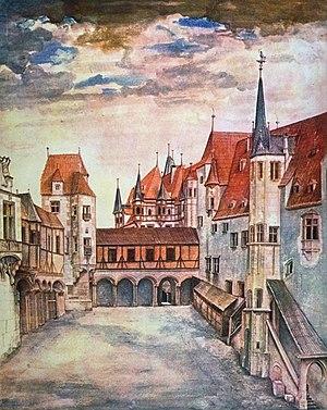 Hofburg, Innsbruck - Innsbruck Castle Courtyard by Albrecht Dürer, 1495