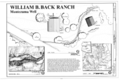 Cover Sheet and Site Plan - William B. Back Ranch, 5525 Beaver Creek Road, Rimrock, Yavapai County, AZ HABS AZ-217 (sheet 1 of 1).png