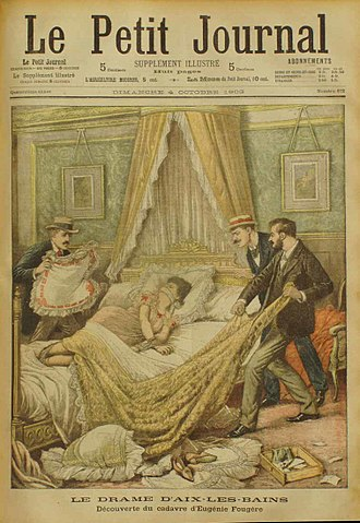 Eugénie Fougère (demimondaine) - Cover of Le Petit Journal of October 4, 1903, about the murder of Fougère in Aix-les-Bains