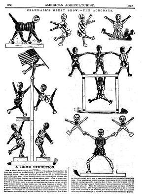 Charles Martin Crandall - An 1874 advertisement of Crandall's acrobats