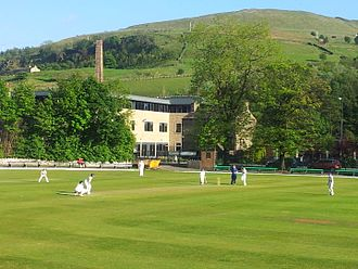 Rawtenstall - Cricket at Rawtenstall Cricket Club's Bacup Road ground