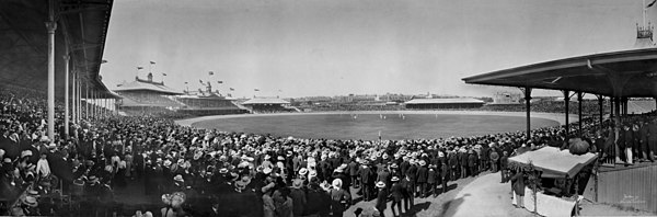 Sydney Cricket Ground on 12 December 1903 Cricket at the Sydney Cricket Ground, 12 December 1903.jpg
