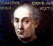 Christophe Colomb - portrait publié en 1551 par Paul Jove