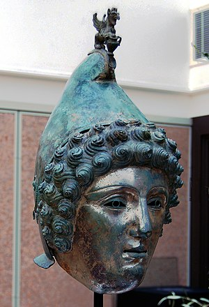 Crosby Garrett Helmet - The helmet on display at Christie's in 2010