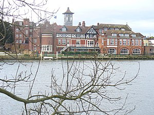 Henry Edward Kendall Jr. - Kendall's Pope's Villa, now a private school, seen from across the Thames