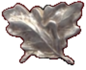 Military awards and decorations of the United Kingdom - Image of silver oak leaves used on ribbon bars