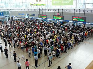 Crowd gathered central Seoul railway station to make a reservation for Chuseok 2.jpg