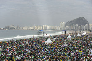 World Youth Day 2013 - Pilgrim crowds in Rio