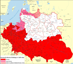 Crown of the Kingdom of Poland within Polish–Lithuanian Commonwealth in 1635.