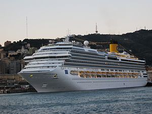 Cruise Ship Costa Concordia in Genoa Harbour - November 2010.jpg