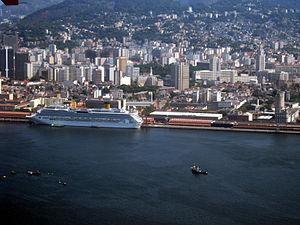 Cruise Ship Costa Serena docked in Rio de Janeiro (city) - Feb. 2011.jpg