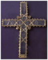 Crystal cross of St Sava 13th century - Savina Monastery - Herceg Novi.PNG