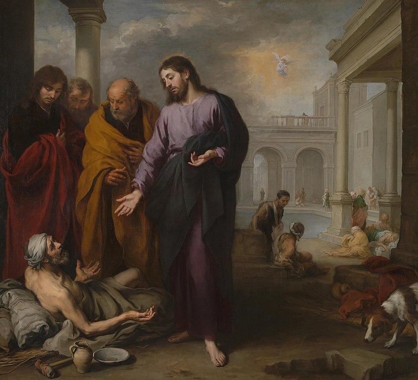 베데스다 못에서 중풍 환자를 치유하는 그리스도, 바르돌로메 에스테반 무리요