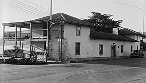 Monterey, California - Construction on the Custom House began in 1814 under Spanish rule. This photo dates from 1936.