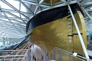 Draft (hull) - English system used on the stern of the Cutty Sark