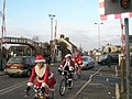 Cycling Santas by Bedhampton Gates - geograph.org.uk - 634676.jpg
