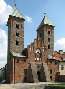 Romanesque church in Czerwińsk