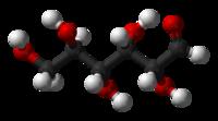 Molekylemodel for D-glukose