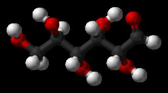 Blood sugar regulation - Ball-and-stick model of a glucose molecule