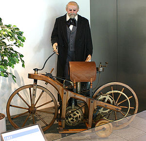 History of the motorcycle - Replica of the 1885 Daimler-Maybach ''Reitwagen''