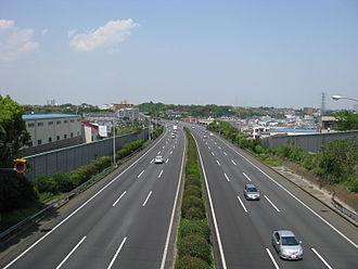 Japan National Route 466 - Daisan Keihin Road near Kawasaki