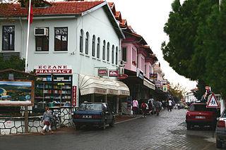 Dalyan Town in Aegean, Turkey