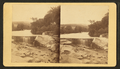 Dam, ledge and pot holes, from bridge, by O. M. Moore.png