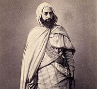 Abd-El-Kader à Damas, portant le grand cordon de la Légion d'honneur, 1860.
