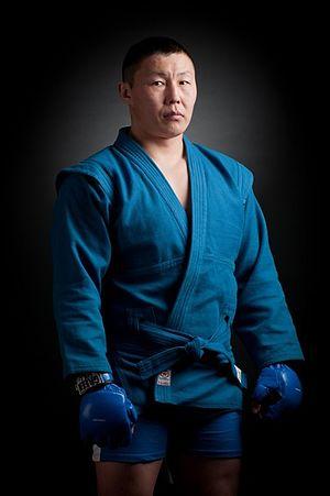 Kurtka - Wearing a blue kirtka, Damba Radnaev was the World Sambo Champion in 2015.
