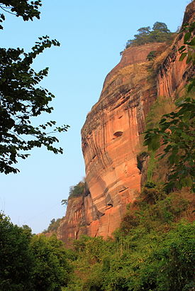 丹霞山に見られる丹霞地形