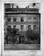 Blätter für Architektur und Kunsthandwerk, 1909, Tafel 29