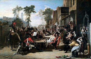 David Wilkie (artist) - Painting by David Wilkie entitled The Chelsea Pensioners reading the Waterloo Dispatch, a huge success in 1822 when it was first exhibited by the Royal Academy on the 7th anniversary of the battle.