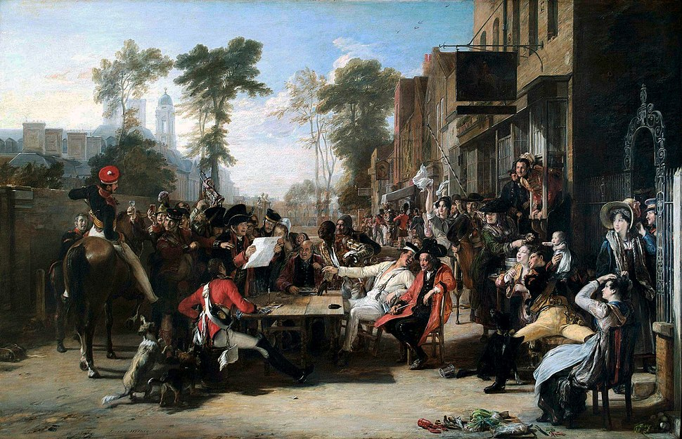 David Wilkie Chelsea Pensioners Reading the Waterloo Dispatch