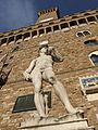 David statue in front of Palazzo Vecchio, Florence.jpg