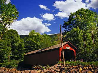 Davidson Township, Sullivan County, Pennsylvania - Sonestown Covered Bridge in Davidson Township
