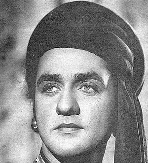 Sapru (actor) - Sapru in an Early Hindi film