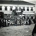 Deák tér (Piata Libertatii), jobbra a Hám János utca (Strada Horea), a magyar csapatok bevonulása idején. A felvétel 1940. szeptember 5-én készült. Fortepan 100955.jpg