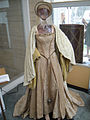 "Debbie Reynolds Auction - Jean Simmons ""Queen Elizabeth I"" silk gown, hat, and cape from ""Young Bess"".jpg"