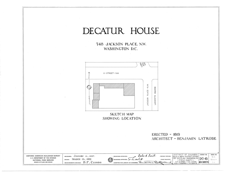 File:Decatur House, National Trust for Historic Preservation, 748 Jackson Place Northwest, Washington, District of Columbia, DC HABS DC,WASH,28- (sheet 0 of 23).png