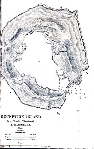 Deception Island - 1829 map