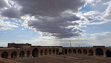 Interior view of the western and southern side of Deir-e Gachin Caravansarai