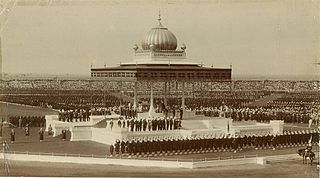 Delhi Durbar assembly organised by the British in India, at the succession of an Emperor or Empress
