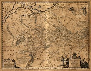 Dnipropetrovsk Oblast - 1648 map of Beauplan where Dzikie Pole identified in upper portion of the map.