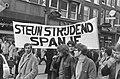 Demonstratie tegen Franco-bewind in Spanje in Amsterdam de demonstratie, Bestanddeelnr 922-0646.jpg