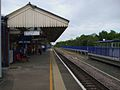 Denham station eastbound platform look east2.JPG
